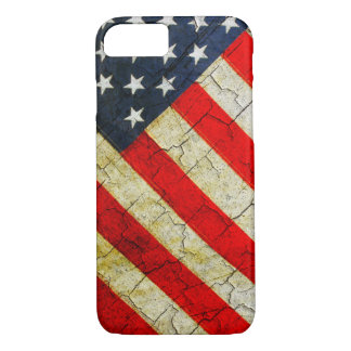 Cracked American flag iPhone 8/7 Case