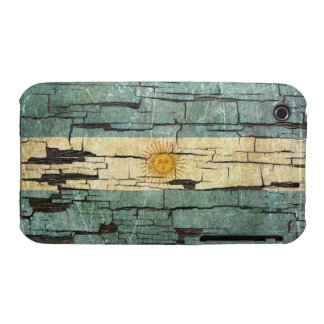 Cracked Argentinian Flag Peeling Paint Effect iPhone 3 Cases