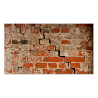Cracked brick wall pack of standard business cards