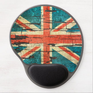 Cracked British Flag Peeling Paint Effect Gel Mouse Pads
