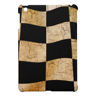 Cracked chequered flag cover for the iPad mini