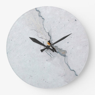 Cracked concrete clock