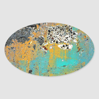 Cracked Concrete Series Oval Sticker