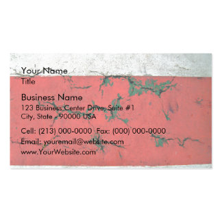 Cracked Concrete wall painted in alternating bars Pack Of Standard Business Cards
