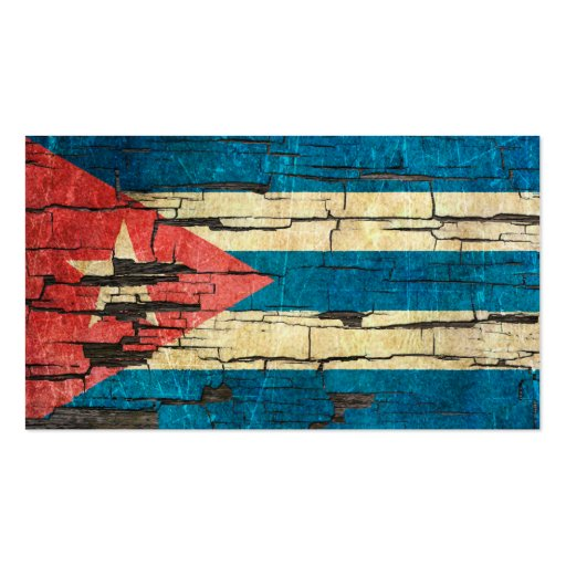 Cracked Cuban Flag Peeling Paint Effect Business Card Templates