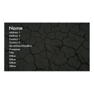 Cracked desert mud business card template