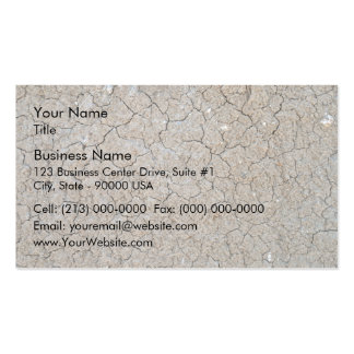 Cracked Dry Ground Texture Business Card Templates