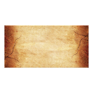 CRACKED EARTH CLAY TEXTURES ABSTRACT RANDOM TEMPLA PERSONALISED PHOTO CARD