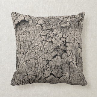 Cracked Earth Cool Dirt Texture Throw Pillow