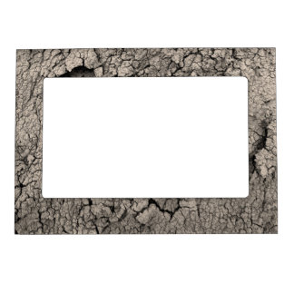 Cracked Earth Funny Cool Texture Magnetic Frame