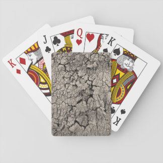 Cracked Earth Funny Cool Texture Playing Cards