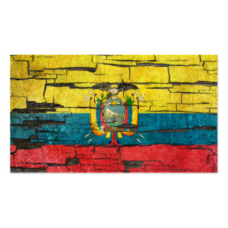 Cracked Ecuadorian Flag Peeling Paint Effect Pack Of Standard Business Cards
