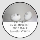 Cracked Egg and Wink Classic Round Sticker