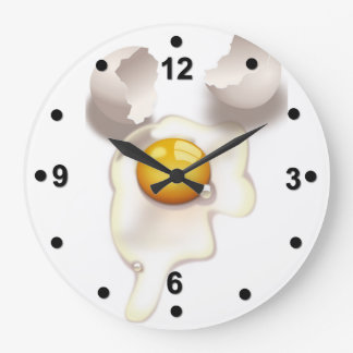 Cracked Egg Kitchen Wall Clock
