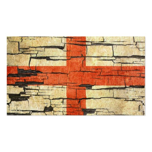 Cracked English Flag Peeling Paint Effect Business Card