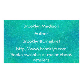Cracked Glass Author Template Business Cards