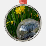 Cracked Glass Sphere Christmas Ornaments