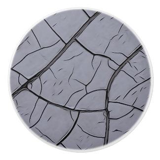 Cracked Gray Paint Ceramic Knob