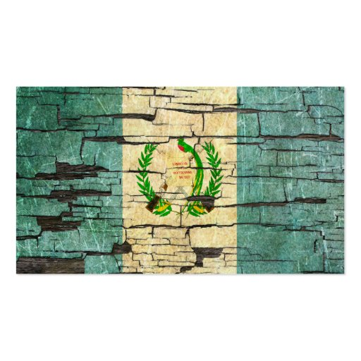 Cracked Guatemalan Flag Peeling Paint Effect Business Cards