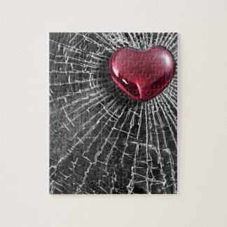 Cracked Heart Jigsaw Puzzle