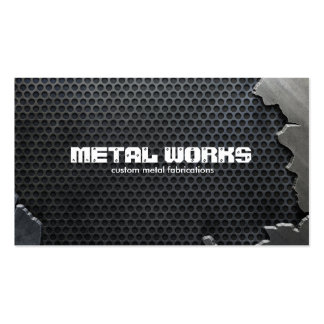 Cracked Metal and Mesh Pack Of Standard Business Cards