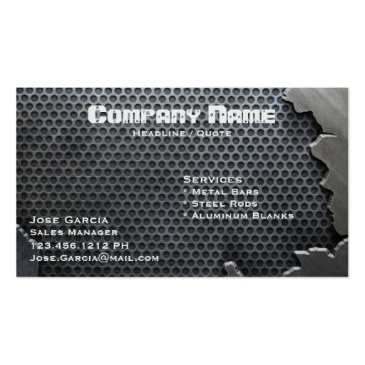 Cracked Metal Business Card Template