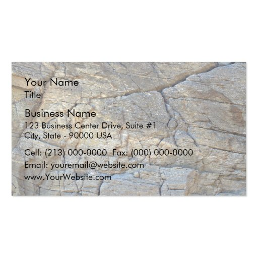 Cracked Mountain Rock texture Business Card Template