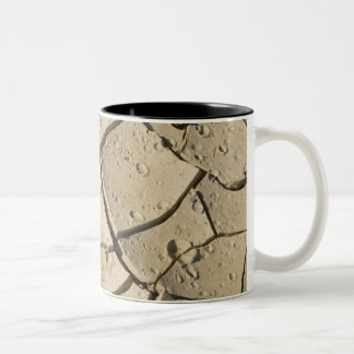 Cracked Mud formation in the Valley floor of 2 Two-Tone Coffee Mug