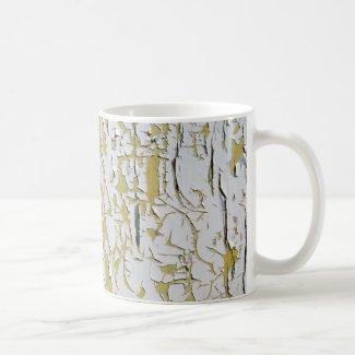 Cracked paint on coffee mug