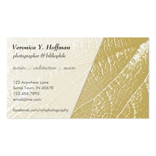 Cracked Parchment Leaf Business Card Template