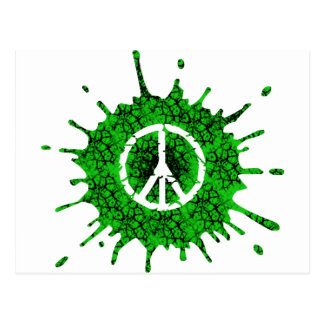 Cracked Peace Sign Postcard