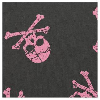 Cracked Pink Skull And Crossbones