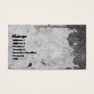Cracked Plaster Gothic Grunge Business Card