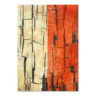 Cracked Polish Flag Peeling Paint Effect 9 Cm X 13 Cm Invitation Card