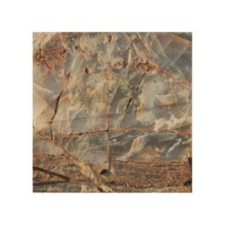 Cracked Quartz Mineral Texture Wood Wall Art