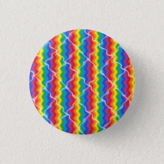 Cracked Rainbow 3 Cm Round Badge