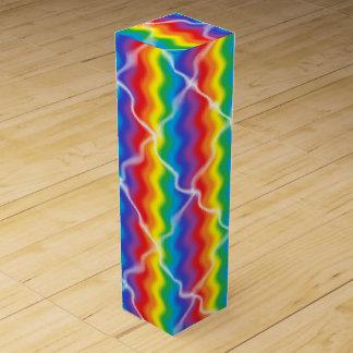 Cracked Rainbow Wine Box