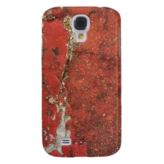 Cracked red concrete wall textured background galaxy s4 case