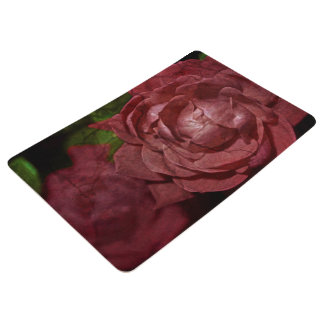 Cracked Red Rose by Shirley Taylor Floor Mat
