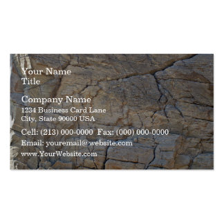 Cracked Rock texture Business Cards