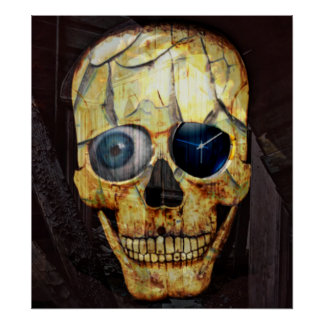 Cracked Skull Poster