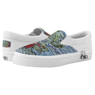 Cracked Sunset Slip-On Shoes