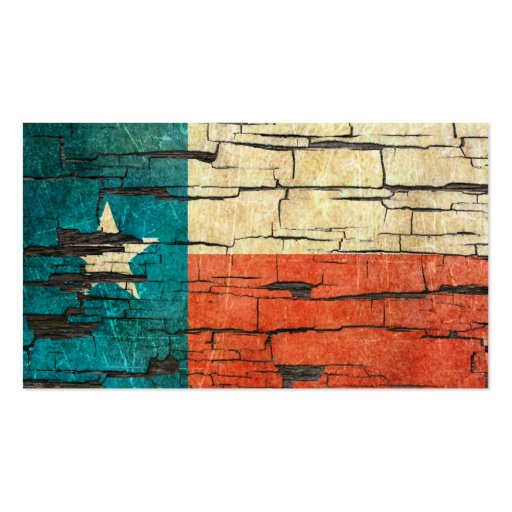 Cracked Texas Flag Peeling Paint Effect Business Card Templates