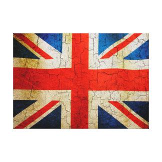 Cracked Union flag Canvas Print