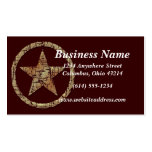 Cracked Western Star/Badge Business Cards