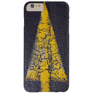 Cracked yellow arrow on a road barely there iPhone 6 plus case