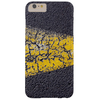 Cracked yellow paint on a road barely there iPhone 6 plus case