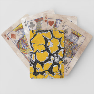 Cracked Yellow Road Paint Bicycle Playing Cards
