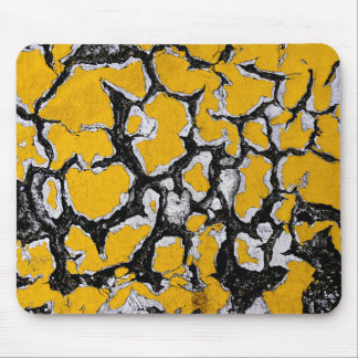Cracked Yellow Road Paint Mouse Mat