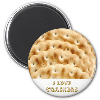 Crackers 6 Cm Round Magnet